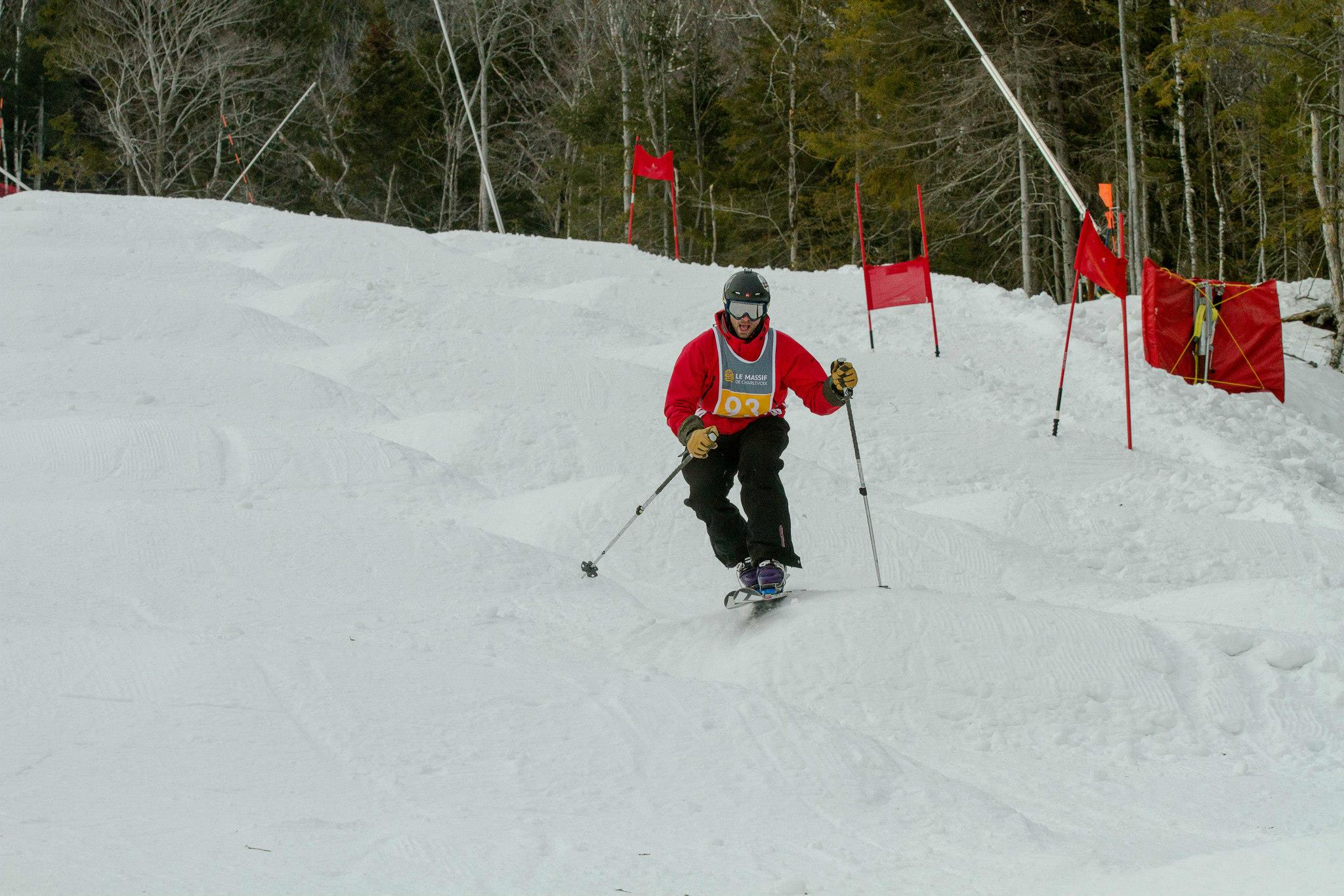 Moguls telemark competition
