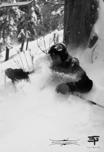 Telemark in powder. Got my goggle's fogged like a rookie ! At le Massif