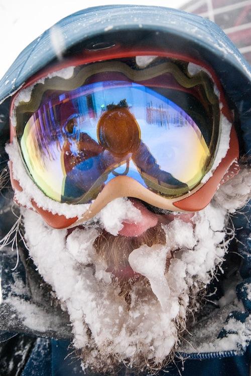 Evans snow face