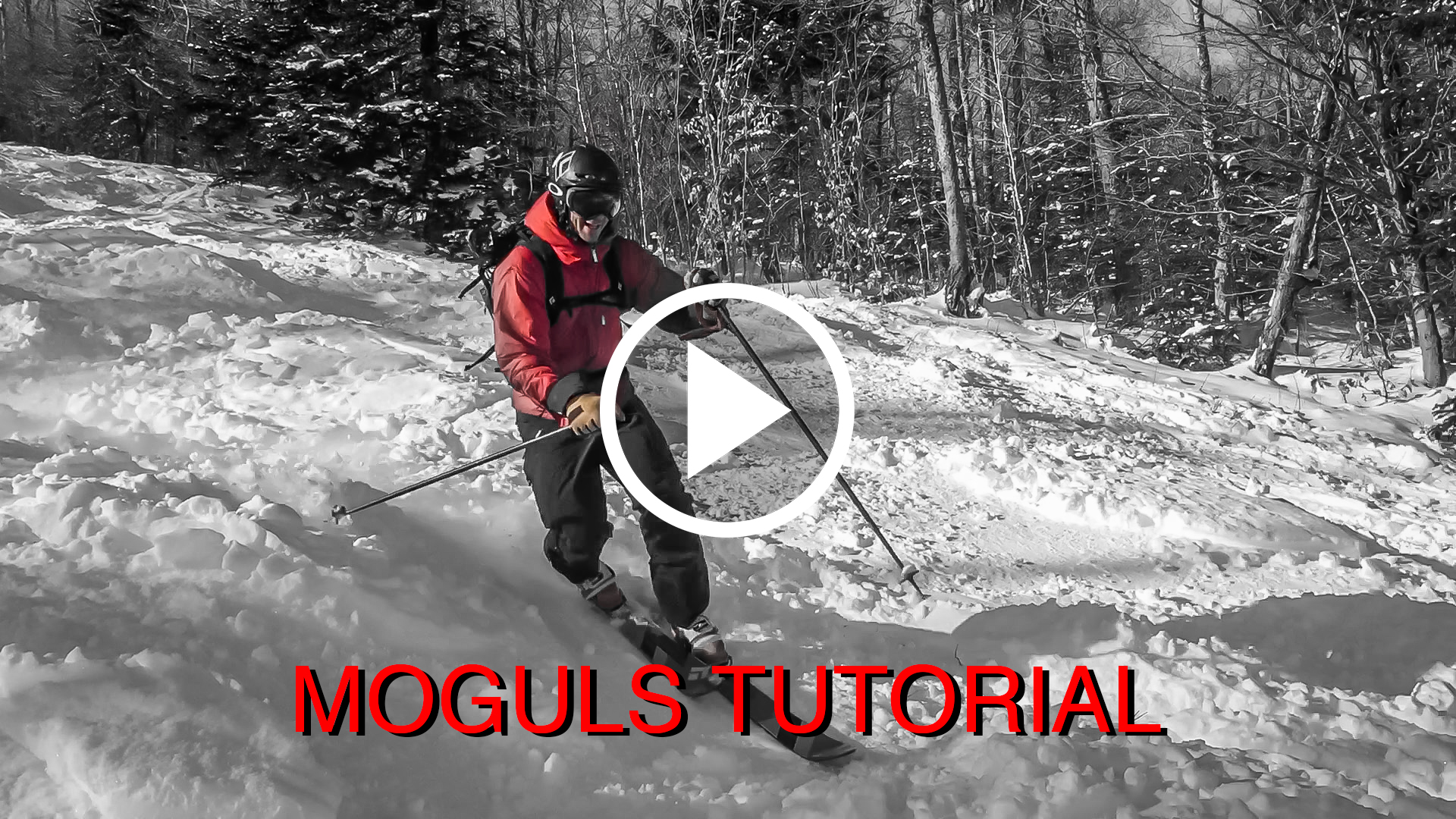 Moguls telemark picture + PLAY